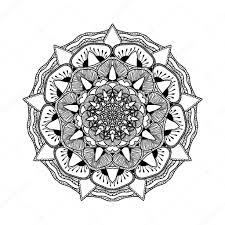 Beautiful Decoration Element Vector Beautiful Mandala Black And White Pattern For Design And