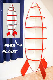 Free Woodworking Plans Bookshelves by Diy Rocket Bookshelf For Space Themed Bedroom Plywood Projects