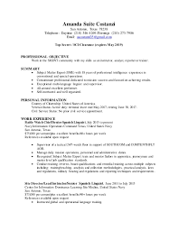 Military Intelligence Resume Free Resume Templates For Sales And Marketing How To Write A Case