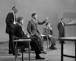 John F Kennedy Rocking Chair Cbs News Producer Don Hewitt Center Gestures While Making