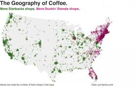 Map Of The East Coast Of The United States by Dunkin U0027 Donuts Vs Starbucks Map Business Insider