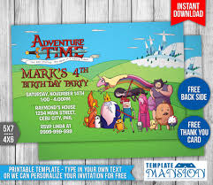 adventure time birthday invitation 100 images novel concept