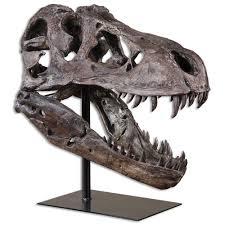 sue global bazaar brown metal tyrannosaurus skull sculpture sue global bazaar brown metal tyrannosaurus skull sculpture kathy kuo home