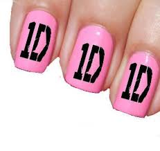 one direction logo 1d nail art transfer transparent sassy fp