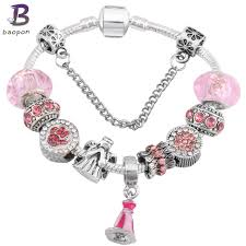 silver plated charm bracelet images Online shop baopon catoon style antique silver plated charm jpg