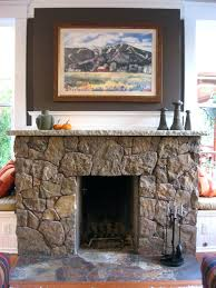 fireplace refacing stone veneer manufactured interior stacked