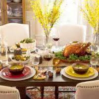 Kitchen Table Setting Ideas by Thanksgiving Round Table Ideas Themontecristos Com