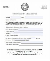 Court Reporter Resume 31 Sample Service Letters Community Service Letter Completion
