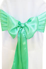chair sash ties blue aqua satin chair sashes chair bows ties wedding