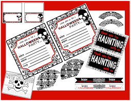 Kids Halloween Birthday Party Invitations by Free Creepy Halloween Printables Catch My Party