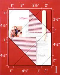 envelope fold holiday letter martha stewart