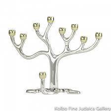 menorah tree of menorah tree of design silver plate and gold tone cups kolbo