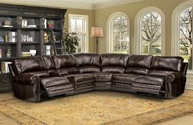 thurston 6 piece power reclining sectional in havana leather by