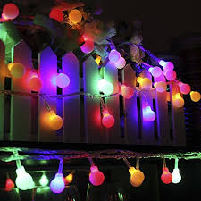 led color changing globe string lights with remote bluefire led ball string lights with flashing 31ft 50 leds