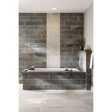 shop style selections ivetta black slate glazed porcelain indoor