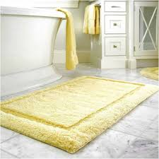 Yellow Bathroom Rugs Shaggy Yellow Bath Rug With Marble Floor Tiles And White Tub For