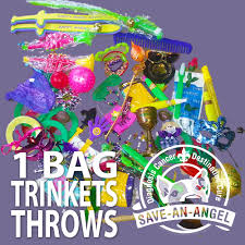 mardi gras trinkets mardi gras throws 1 bag of trinkets save an angel