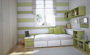 Small Kid Bedroom Storage Ideas Amusing Small Boy Bedroom Design With Green Stripped Wall Color