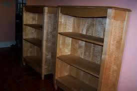 handmade tiger maple bookcase by blue hill cabinet u0026 woodwork