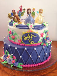 the sofia the first birthday cake i made for my daughter she