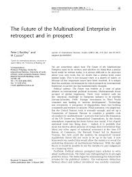 Universities As Multinational Enterprises The Multinational The Future Of The Multinational Pdf Available