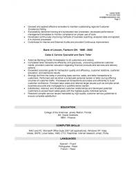 resume skills for bank teller resume bank teller no experience