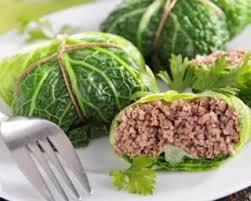 cuisiner le chou recette de chou vert farci à la viande hachée maigre