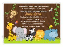 Birthday Invitation Cards For Friends Jungle Friends Or Boy Baby Shower Or Birthday Invitation