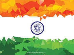 Geometric Flag Indian Flag Theme Background For Indian Republic Day And