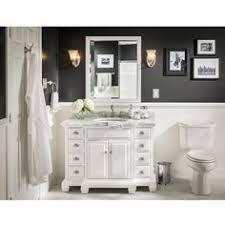 Allen And Roth Bathroom Vanities Allen Roth Tennaby White Marble Undermount Single Sink Poplar