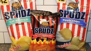 ripple chips spudz potato chips salt vinegar begeezus spicy bbq and ripple