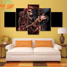 compare prices on canvas art music online shopping buy low price 4 piece set or 5 piece set canvas art skull and music hd canvas