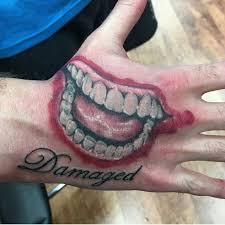 best 25 joker smile hand tattoo ideas on pinterest joker smile
