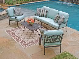 Patio Chair Seat Pads Blue Green Patio Chair Cushions Patio Furniture Conversation