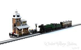 lego moc 5989 winter station seasonal