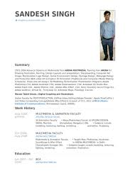 Student Resume Example by Animation Resume Samples Visualcv Resume Samples Database
