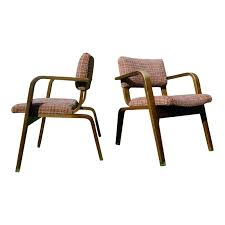 Mid Modern Furniture Vintage Pair Mid Century Modern Thonet Bent Wood Chairs