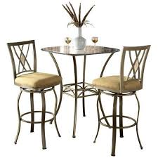 3 Piece Bar Height Patio Set Hillsdale Brookside 3 Piece Bar Height Bistro Table Set With