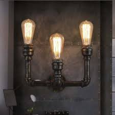 3 Light Sconce 8 U0027 U0027 H Antique Bronze 3 Light Pipe Wall Sconce Indoor Wall Lighting