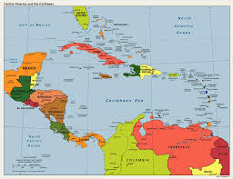 carribbean map america caribbean political map mapsof