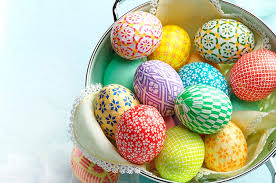 blown easter eggs decorate easter eggs with colorful washi paper birds and blooms