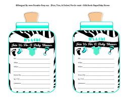 printable invitations girl printable bottle baby shower invitations milk bottle shaped