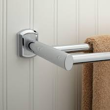 bathroom rail steel rustic towel bars in chrome finish for