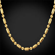long gold ball necklace images 2018 unisex gold ball chain to match pendants platinum 18k gold jpg