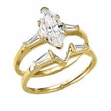 marquise cut wedding set 14k solid gold wedding set 1 25 carat marquise cut