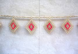Diamond Home Decor by Pink Diamond Mirror Bunting Toran With Mirror Indian Ethnic Home