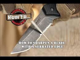 how to sharpen serrated kitchen knives how to sharpen a serrated edge blade