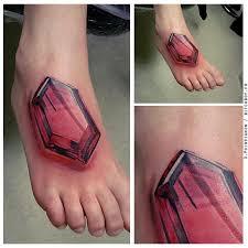3d geek tattoo design on foot tattooshunt com
