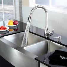 Clogged Kitchen Faucet by Stainless Steel Kitchen Sink Combination Kraususa Com
