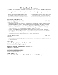 Electronics Technician Resume Samples by Telecommunication Resume Example Cover Letter Articles View All Daily